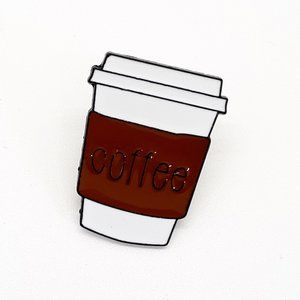 Coffee Enamel Pin Badge Brooche